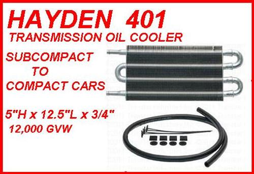"""HAYDEN 401 TRANSMISSION OIL COOLER UNIVERSAL FIT FOR COMPACTS: 12.5""""x5"""" OC-1401 , PIÈCES DE TRANSMISSION , piezas de transmisión , ENFRIADOR DE ACEITE DE TRANSMISIÓN,"""