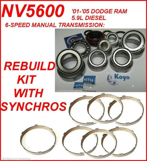Replacement Parts NV5600 Transmission Rebuild Kit with Synchros ...