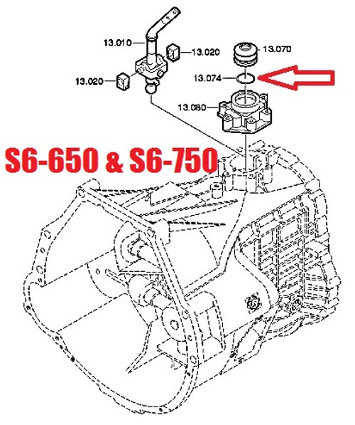 ZF S542 S547 S547M S6-650 S6-750 TRANSMISSION SNAP RING