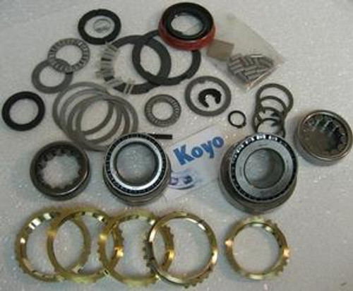 T5 NWC T4 TRANSMISSION REBUILD KIT WITH SYNCHRO RINGS FITS '82+ CAMARO  FIREBIRD S10 S-BLAZER ASTRO MUSTANG TBIRD COUGAR CAPRI (BK107WS)