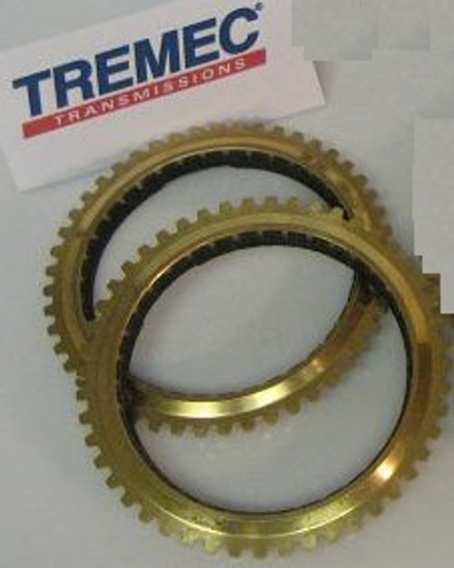 TR3650 TRANSMISSION SYNCHRO RINGS SET OF 2 BRASS FIBER LINED FOR 3-4-5-REV  BY TREMEC FITS '01+ 4 6L MUSTANG, FALCON BA, MG ZT
