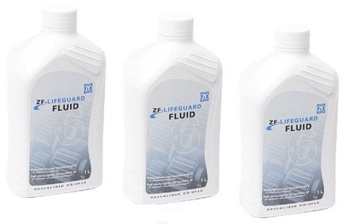 ZF LIFEGUARD 6 TRANSMISSION FLUID: THREE 1-LITER BOTTLES ZF6HP19 ZF6HP19A ZF6HP21 ZF6HP26 S671090255 , M465ZF6-1 x 3 , TRANSMISSION PARTS, GEARBOX SPARES,