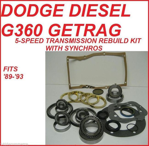 Dodge G360 Getrag 5-SPEED Manual Transmission Rebuild Kit Manual ...
