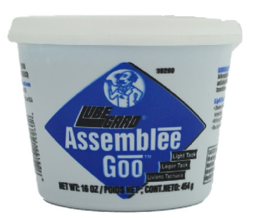TRANSMISSION, TRANSFER CASE, OR DIFFERENTIAL ASSEMBLY LUBE: BLUE LOW-TACK 16oz TUB , M465TB , DR TRANNY'S ASSEMBLEE GOO,