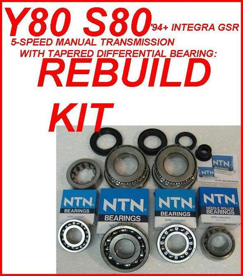 Y80 S80 TRANSMISSION REBUILD KIT FITS ACURA INTEGRA GSR
