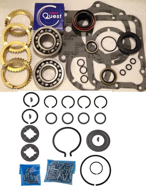 NP833 A833 NP440 TRANSMISSION REBUILD KIT With SYNCHRO RINGS FITS '64-'69 DODGE & PLYMOUTH 4-SPEED CARS BK340WS , NP833 PARTS, A833 PARTS , NP833 REBUILD , NP833 REBUILD, TRANSMISSION PARTS , GEARBOX SPARES, piezas, transmision,