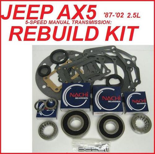 Jeep AX5 5 Speed Transmission Bearing Kit BK161LA
