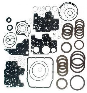 4R70W TRANSMISSION REBUILD KIT WITH FRICTIONS & BONDED PAN GASKET FITS  '98-'03 FORD (76004HW)