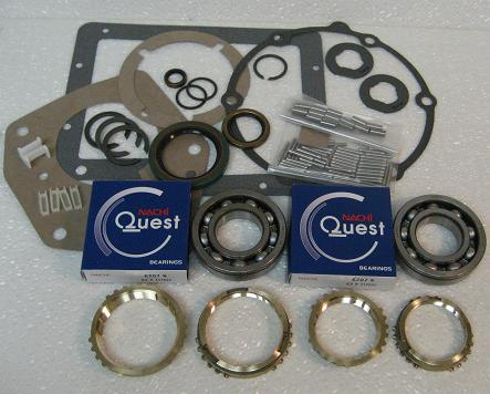 SR4 TRANSMISSION REBUILD KIT WITH SYNCHRO RINGS FITS MUSTANG 8CYL '76-'78  (BK125WS)