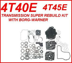 4T40E 4T45E TRANSMISSION SUPER REBUILD KIT WITH EXEDY FRICTIONS, STEELS,  BAND, PISTONS, & FILTER FITS '95+