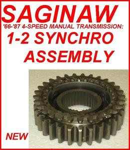 SAGINAW TRANSMISSION 1-2 SYNCHRO ASSEMBLY WITH KEYS & SPRINGS FOR 4-SPEED  (WT302-80A)