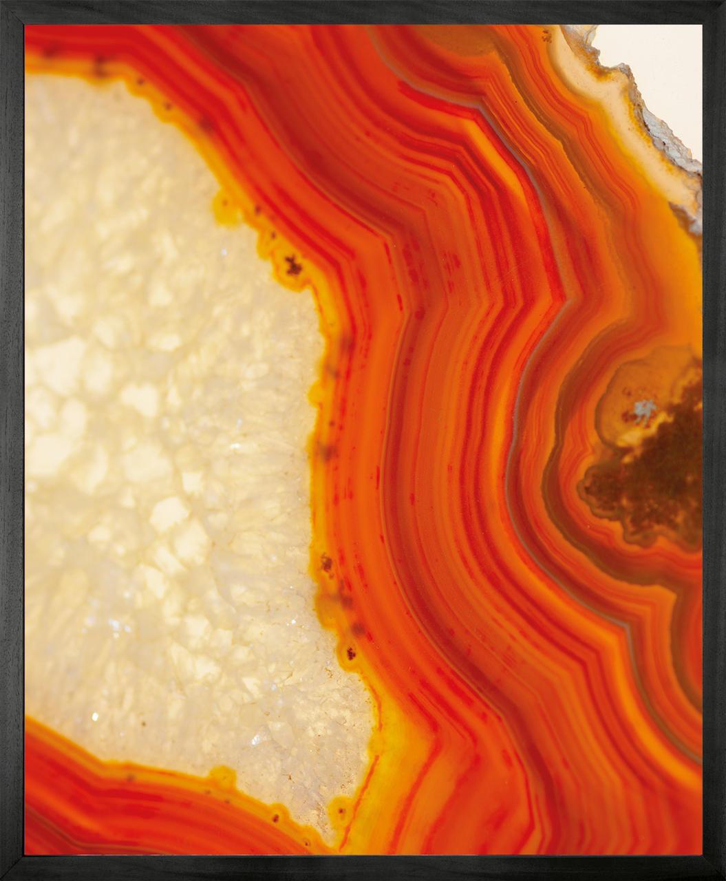 Geode 4 Framed Printed canvas