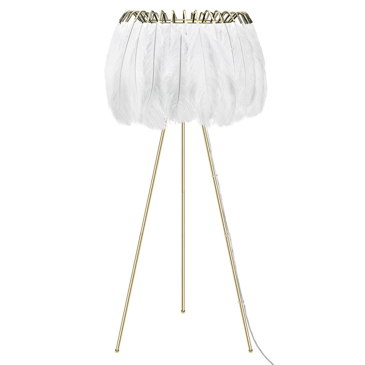 Young and Battaglia Feather Floor Lamp -White
