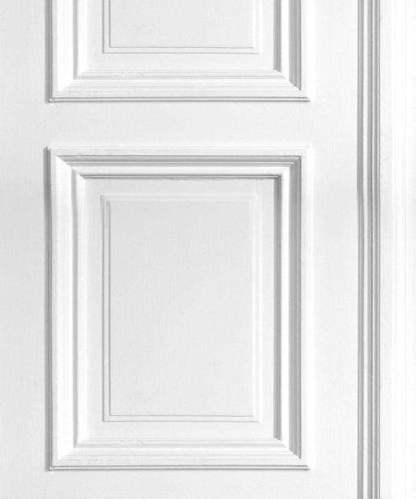 Young and Battaglia White Panelling Wallpaper