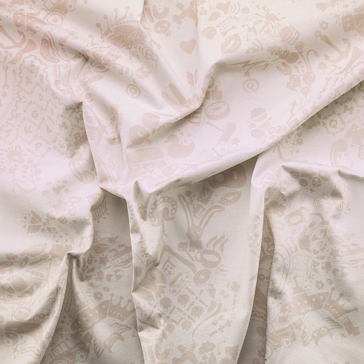 Young and Battaglia New World Damask Printed Fabric- Pink