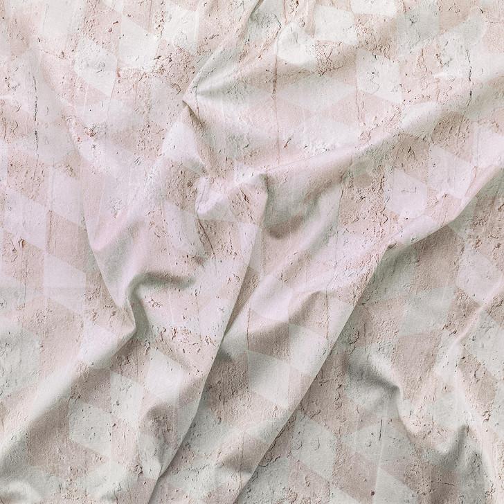 Emanuele Pangrazi Geometric Cubes Printed Fabric- Pink