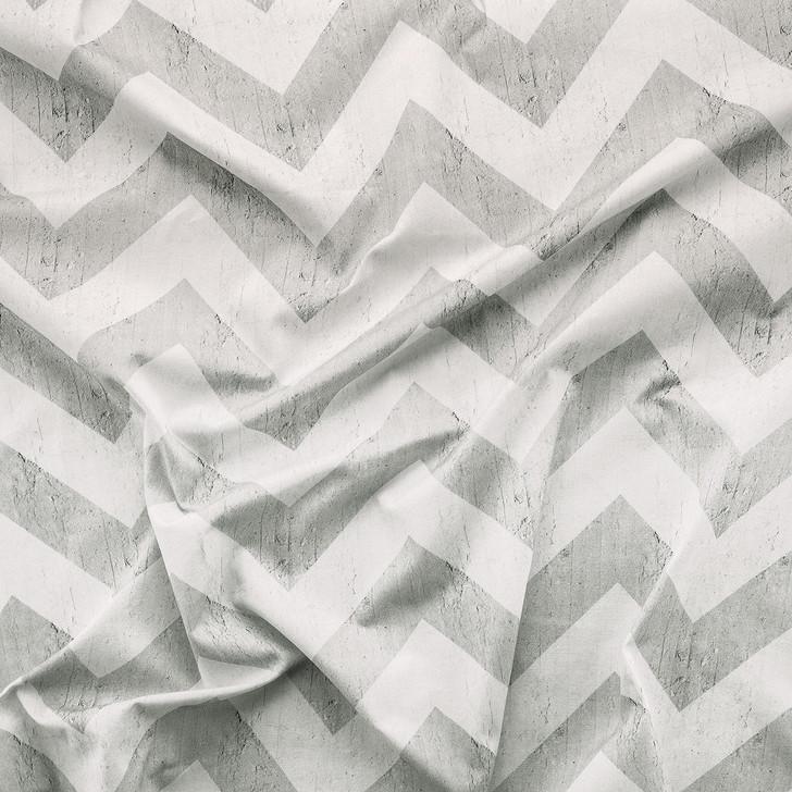 Emanuele Pangrazi Geometric Stripes Printed Fabric- Grey