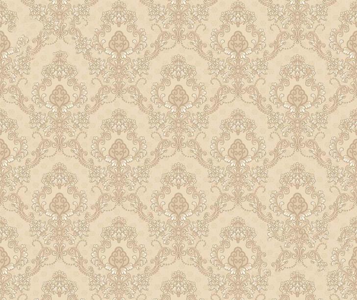 Mineheart Audley Damask Pattern Wallpaper- Cream