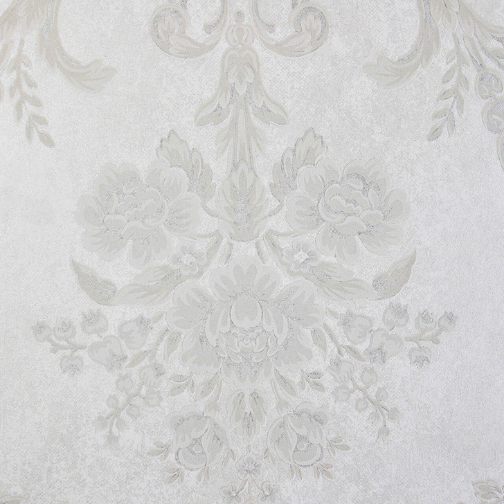 Mineheart Wimpole Floral embossed wallpaper - White