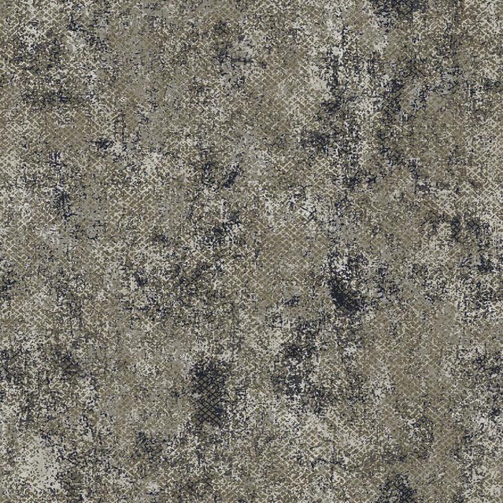 Mineheart Moderna Grid Stucco wallpaper - Khaki and Midnight