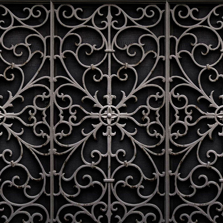 Young and Battaglia Wrought Metal Gate Wallpaper