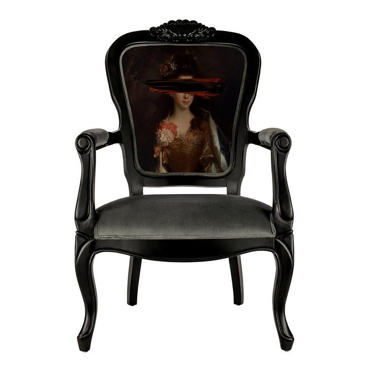Young and Battaglia Black Mark Portrait - Printed Armchair