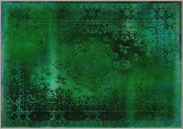 Young and Battaglia Kashan Remix Green Rug - SALE