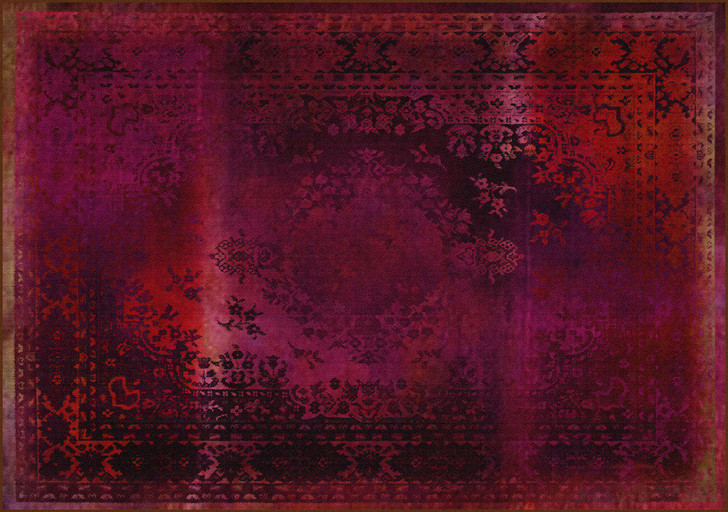 Young and Battaglia Kashan Remix Red Rug -SALE