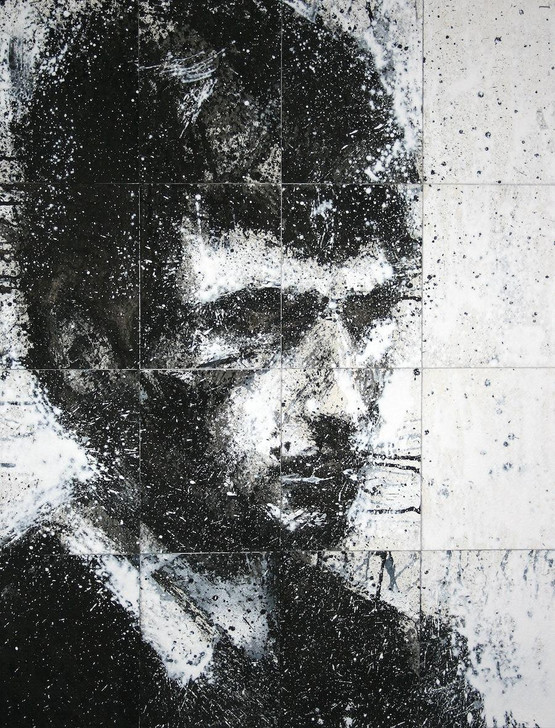 Harry Simmonds Head Of Mike 5 Original Painting Portrait Made With Ink And Acrylic