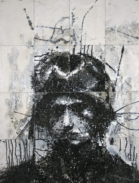 Harry Simmonds Head Of Mike 6 Original Painting Portrait Made With Ink And Acrylic