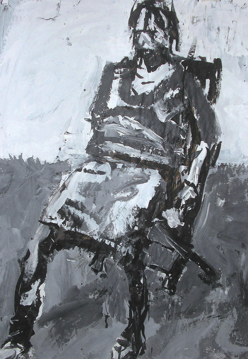 Harry Simmonds Jessika Seated Original Painting Portrait Made With Ink And Acrylic