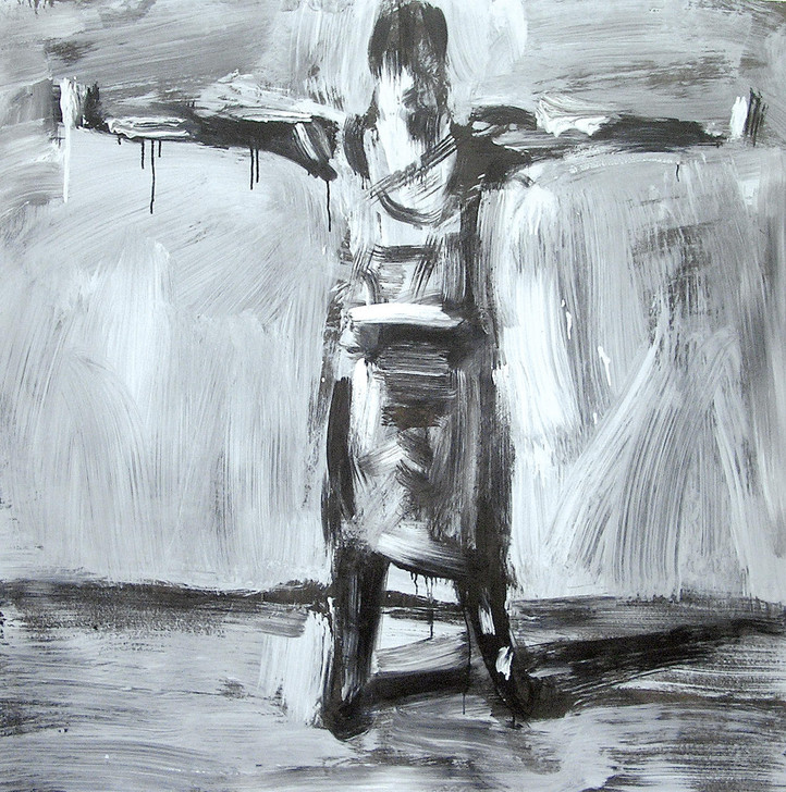 Harry Simmonds Jessika With Arms Stretched Out Original Painting Portrait Made With Ink And Acrylic