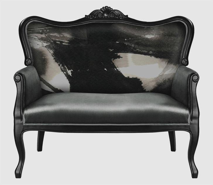 Michael Banks Grey Velvet Sofa with Ink Flow Pattern