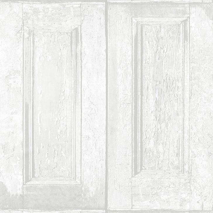 Mineheart Whitewash Panelling Wallpaper Wood Effect