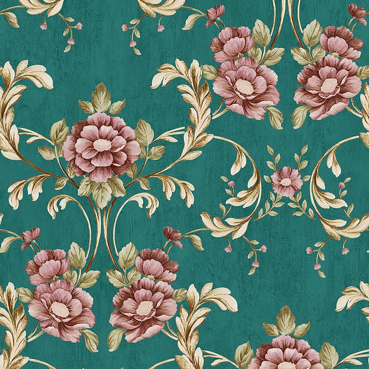 Mineheart Vintage Green floral Wallpaper