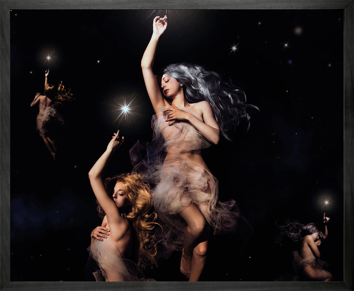 Himitsuhana Stars Hanger Framed Printed Canvas