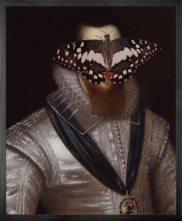 Young and Battaglia Portrait of Black and White Butterfly on Man