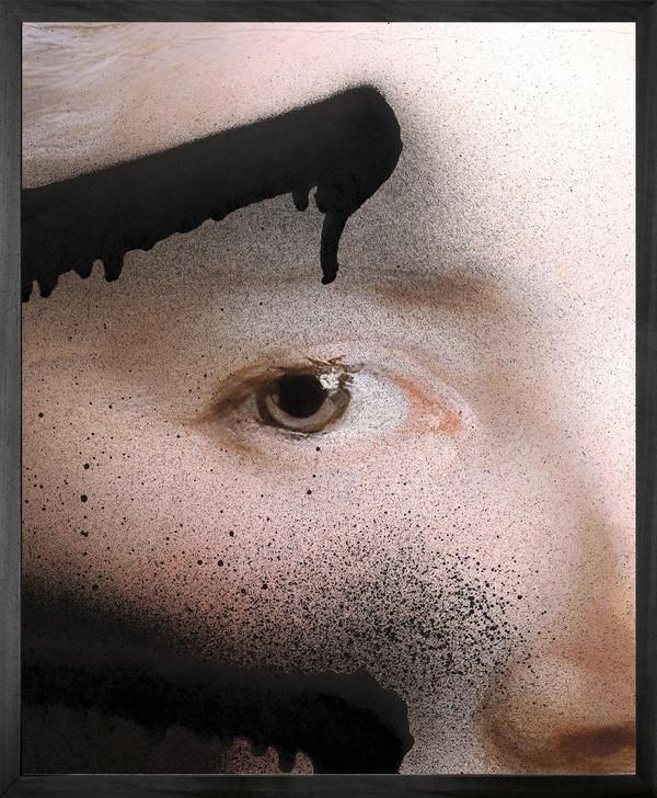 Chad Wys Black graffiti over brown eye