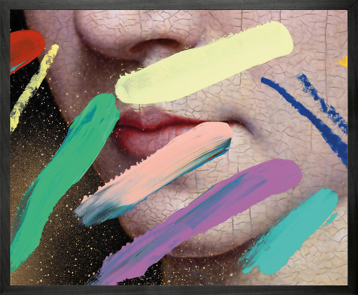 Chad Wys Pastel marks over lips