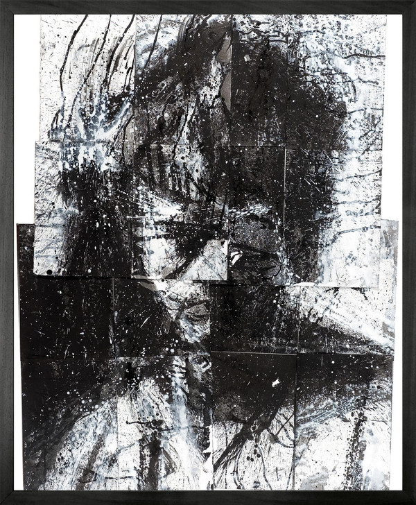 Harry Simmonds Head Of Mike 2 Framed Printed canvas
