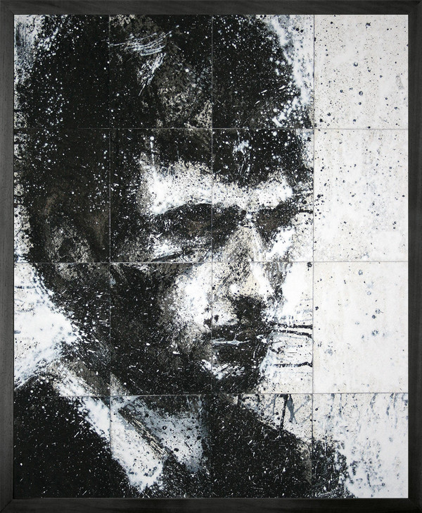 Harry Simmonds Head Of Mike 5 Framed Printed canvas