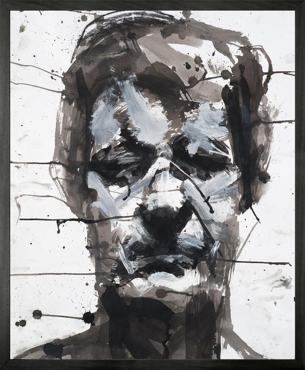 Harry Simmonds Self Portrait no 7 Framed Printed canvas