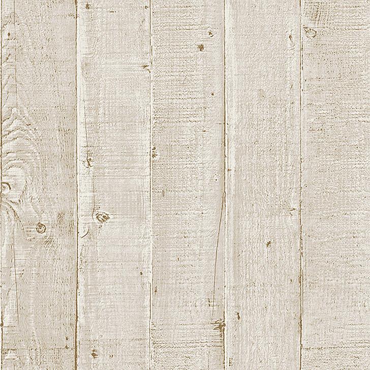 Mineheart Wood Effect Panel Wallpaper Cream