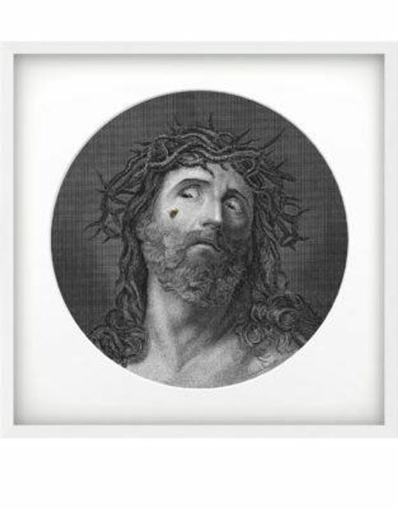 Emanuele Pangrazi Jesus printed canvas