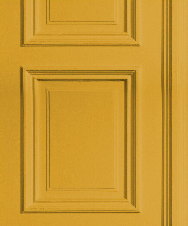 Young and Battaglia Mustard Panelling Wallpaper