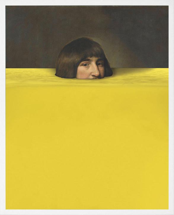 Young and Battaglia Submerged 7 Pantone Yellow Wall art
