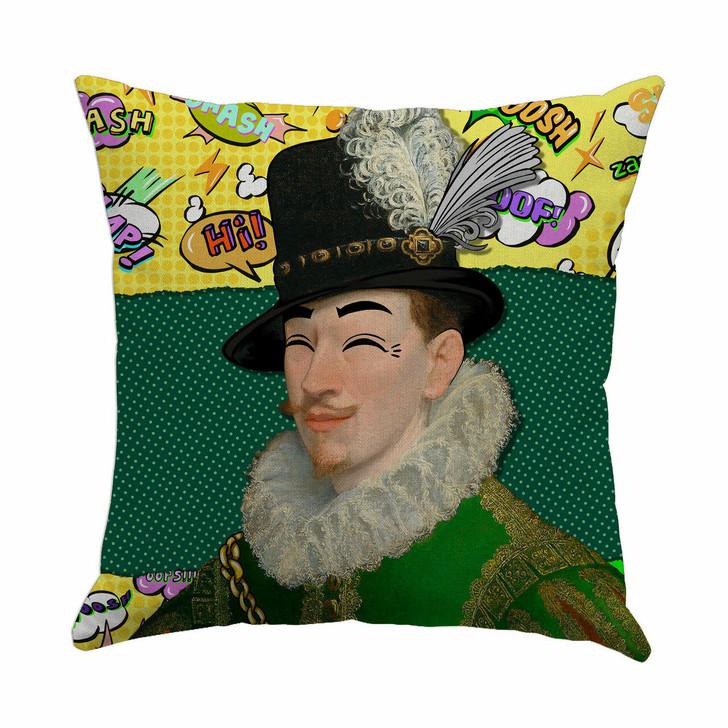 Kirin Young Comic Strip Green Gentleman Cushion