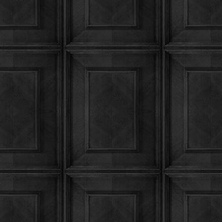Young and Battaglia Charcoal Dutch Inlay Panelling Wallpaper