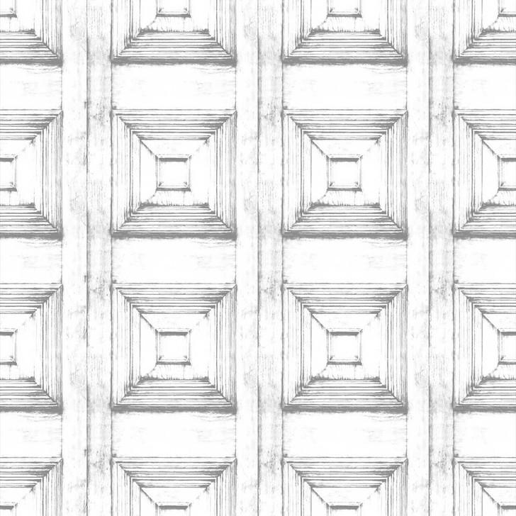 Young and Battaglia Almost White Victorian Panelling Wallpaper