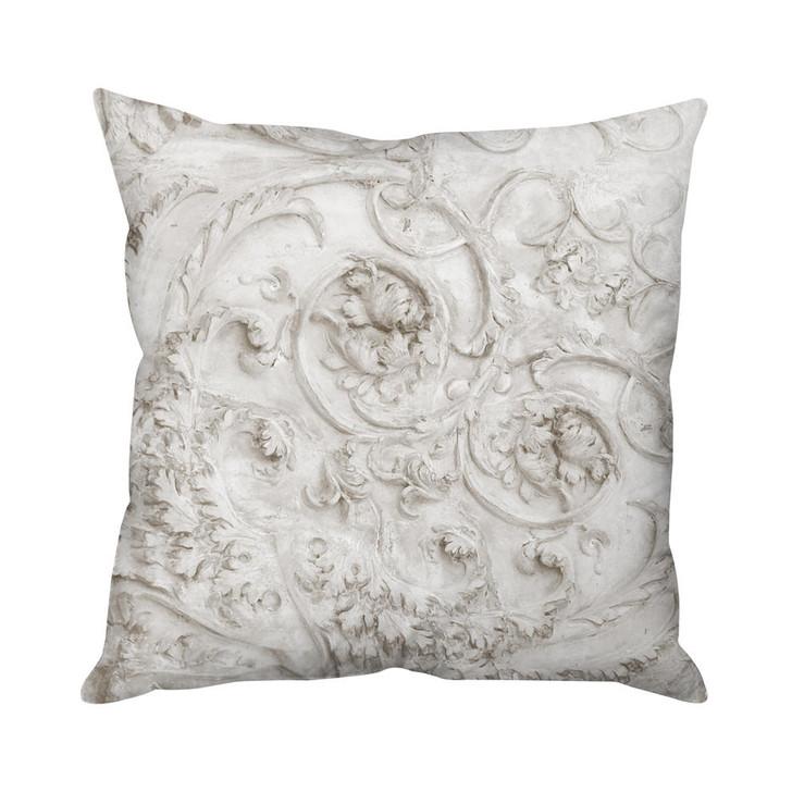 Mineheart Stone Heart Taupe Cushion